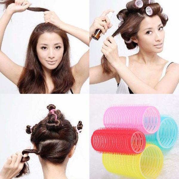 6pcs Velcro Rollers Hair Curlers Styling Tool Hairdressing Hair Style Diy