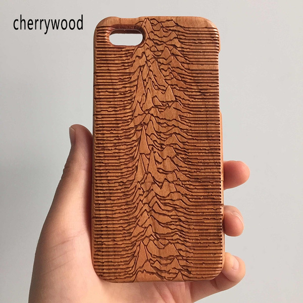 113b5a0316 Joy Division Iconic Unknown Pleasures Natural Wooden Cherry Phone ...
