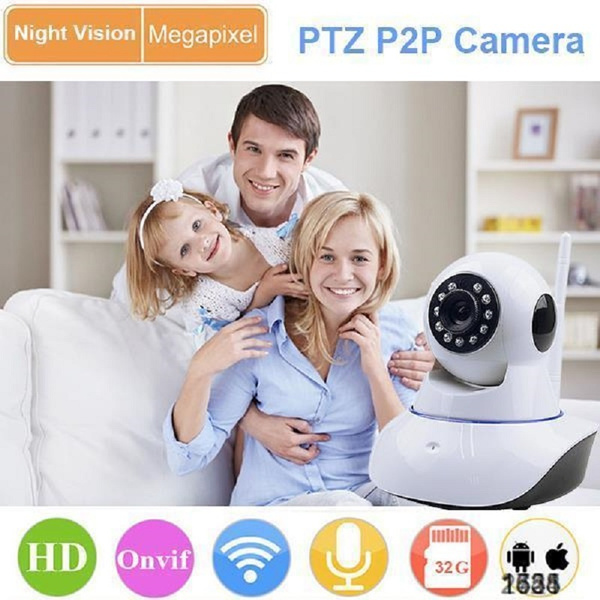 720P home monitoring wifi ip camera 360 degree rotation YOOSEE APP remote  control for smart home system