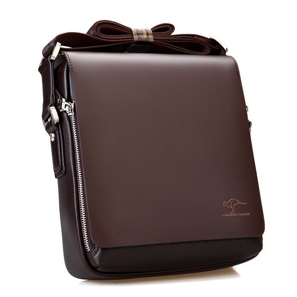 Men Handbag Business Man Bag Shoulder Satchel Kangaroo Leather Mens Casual Briefcase