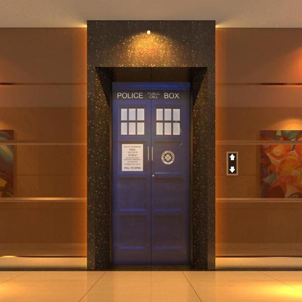 good looking doctor who tardis door decal. Wish  Doctor Who Door Sticker Decal TARDIS Fathead Style Bathroom Creative Funny