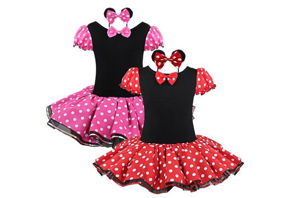 1ebc1ad90bb29 Girls Kids Xmas Party Fancy Costume Ballet Dance Dress Tutu Polka Dots  Skirt + Headband | Wish