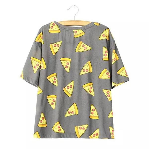 460582543 Wish | Women Pizza letters print T shirt cute Cake NO DRAMA tops short  sleeve shirts casual camisas femininas tops