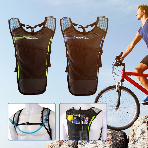Picture of Roswheel 5l Bike Hydration Backpack With 2l Water Bag For Camping Cycling Hiking Size 33.00cm By 47.00cm By 6.00cm Color Black