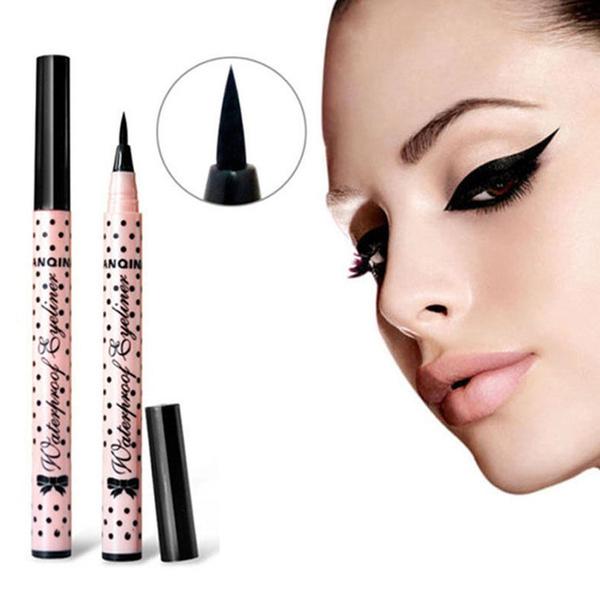 Picture of 2 Pcs New Eyeliner Waterproof Liquid Eye Liner Pencil Pen Make Up Beauty Cosmetics Size 2pcs Color Black
