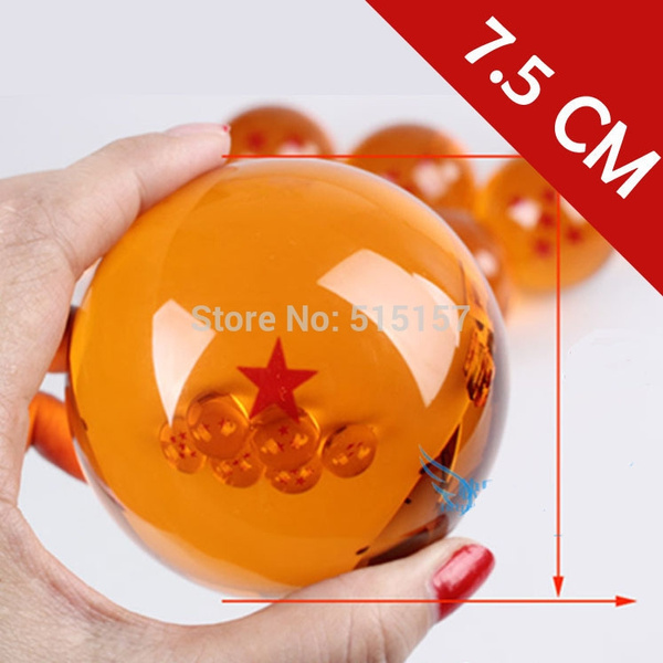 7 5CM 7cm big size 1 2 3 4 5 6 7 star dragonball dragon ball crystal balls  z action figures classic toys for chlidren New in box