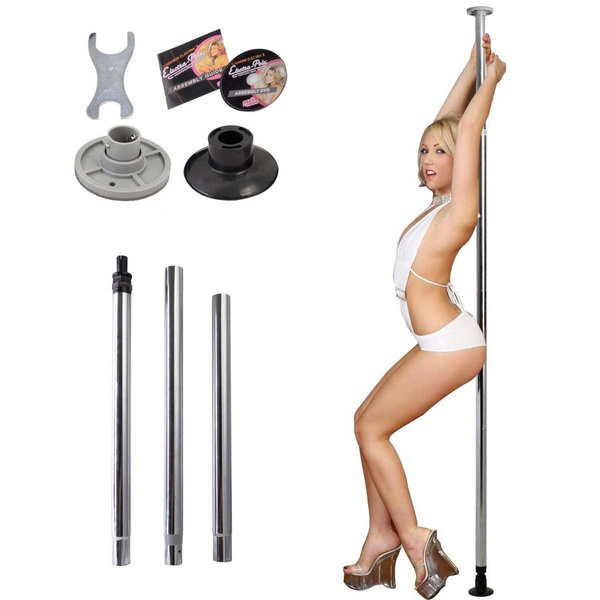 Portable Pro Pole Dancing Dance Pole 50mm By Carmen Electra Sport Fitness W Dvd