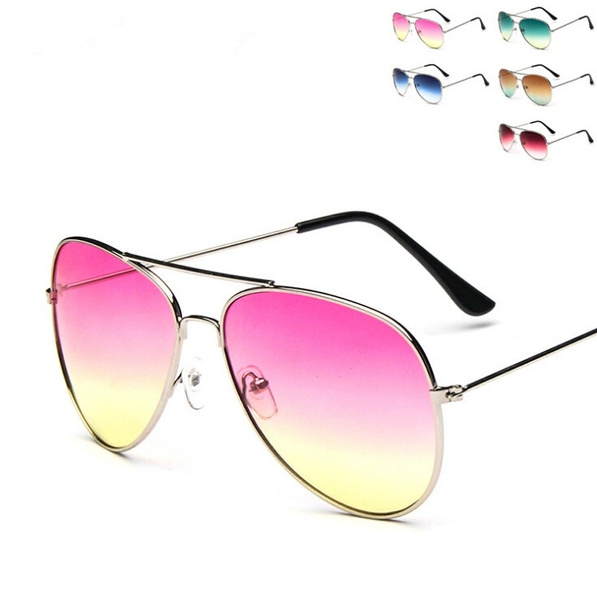 Picture of Unisex Sunglasses Designer Gradient Rimless Sunglasses Women Men Frog Mirror Glasses
