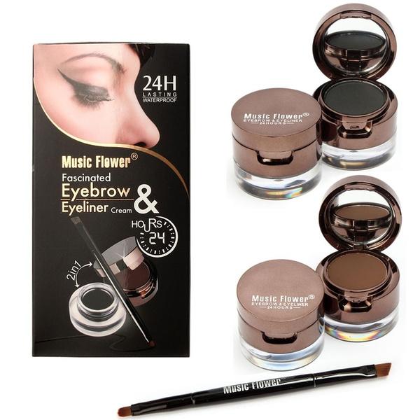 Picture of 4 In Brown+black Waterproof Gel Eyeliner Brown+black Eyebrow Powder Mak Up