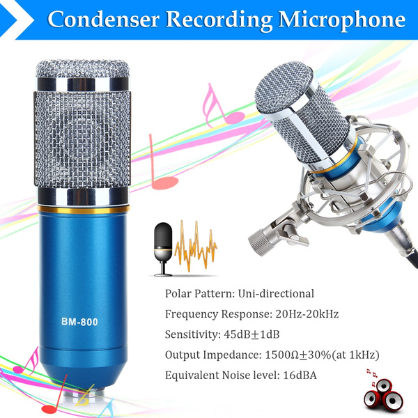 Picture of Studio Condenser Recording Microphone With Shock Mount Bm-800