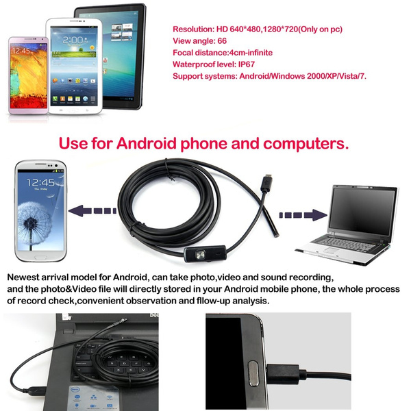 LED IP67 Waterproof USB Endoscope Inspection with 3 5 M Cable Driver CD  Borescope For Android System Phone and PC