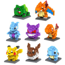 LOZ Pokemon Go Anime Building Blocks Figures Model Toys Pikachu Charmander Bulbasaur Squirtle Mewtwo Eevee for Children gift 9+