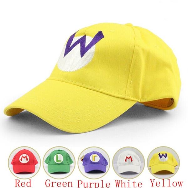 fc4f3dc3e28e 5 colors Super Mario baseball Hat Cap Adjustable Mario Luigi Wario Waluigi  Baseball Hat Kid'd Caps