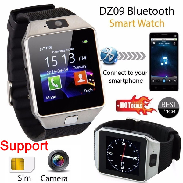 Picture of Bluetooth Smart Watch Phone Camera Support Sim Card For Android/ios Phone