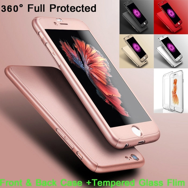 bd13b0f3735 Luxury Slim Shockproof Full Body Case Cover+ Tempered Glass for ...