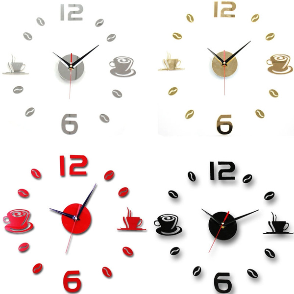 Picture of Diy Acrylic Self Adhesive Interior Wall Creative Decoration Mute Clock