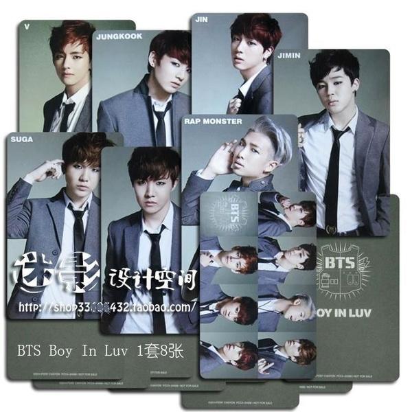 1 Set 8 Pieces Korea Album Card Bts Bangtan Boys Bts Boy In Luv