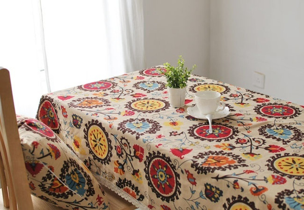 Wish | Indonesian Exotic Mediterranean Style Table Cloth Table Runner Linen  Tablecloths Ethnic Coffee Table Cloth Cushion Covers