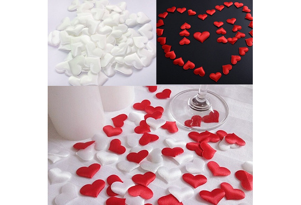 100pcs/bag Wedding Decoration Throwing Heart Petals Wedding Table Decoration Valentines Day Decoration Party Supply Fashion