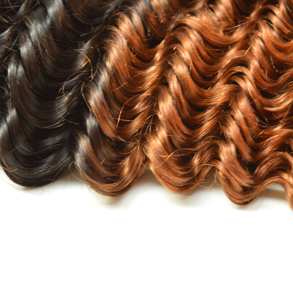 Wish Aaaaaa 3pcs 300g Brazilian Ombre Hair Weaves Deep Curly Ombre