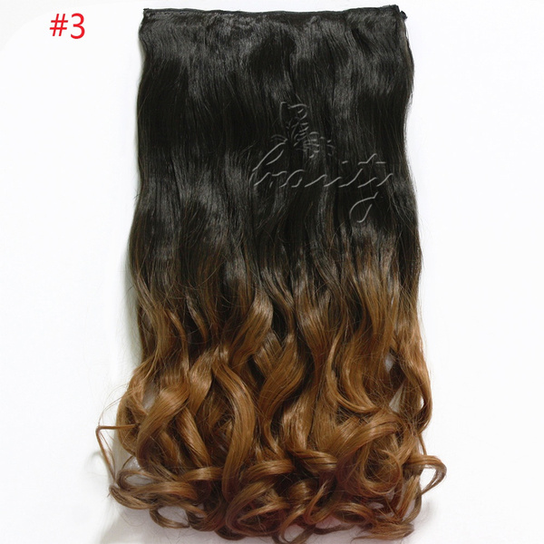 Wish 24 Ombre Color Clip In Hair Extensions One Piece Long Wavy