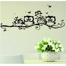 Original Kids Vinyl Art Cartoon Owl Butterfly Wall Sticker Decor Home Decal