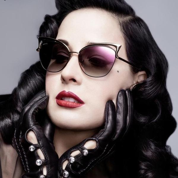 42b34c10d 2015 New Metal Frame Dita Sexy Cat Eye Sunglasses for Women Coating ...