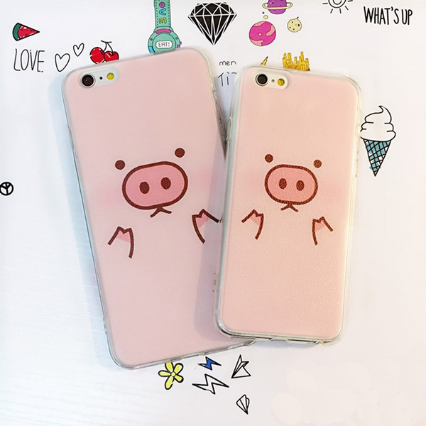 Picture of 1 Pc Pink Pig Soft Silicone Material Gel Tpu Back Case Cover For Iphone 5 5s 6 6 Plus