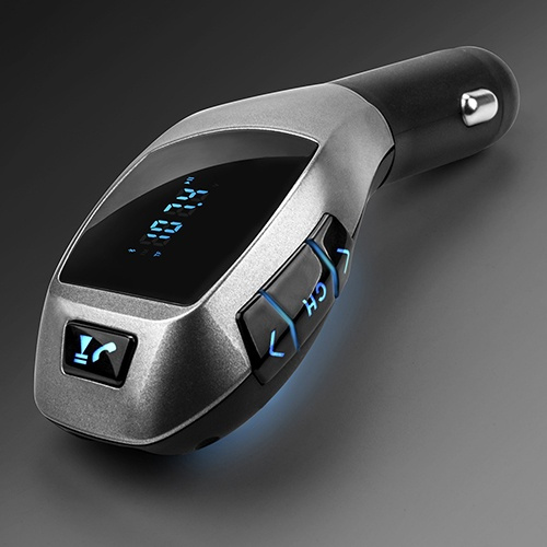 Picture of Hot Bluetooth Car Kit Mp3 Player Fm Transmitter X5 Usb Tf Charger Handsfree Wireless Size One Size