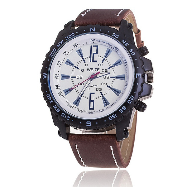 watch weite men brown en watches elegant lighter