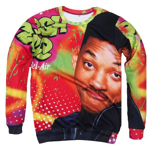 Women Men 3D print Will Smith Funny Hoodies Fashion Casual Pullover Sweatshirt
