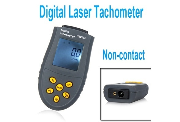 Digital Laser Tachometer LCD RPM Test Small Engine Motor Speed Gauge  Non-contact Home & Tools H9734