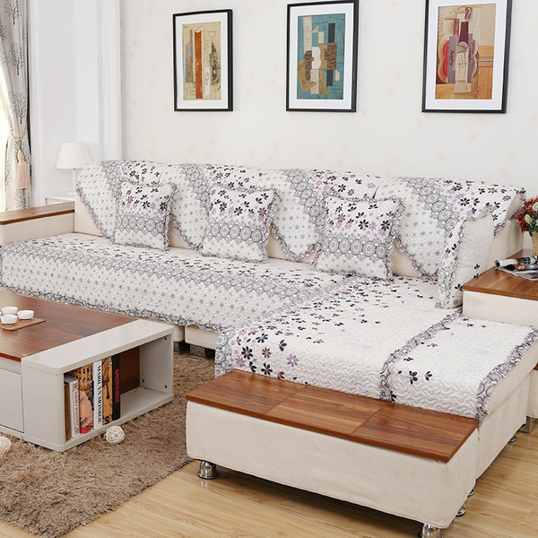 Sectional Couch Covers L-shaped Sofa Cover Elastic Universal Wrap The  Entire Sofa Slipcovere European Style 5 Size