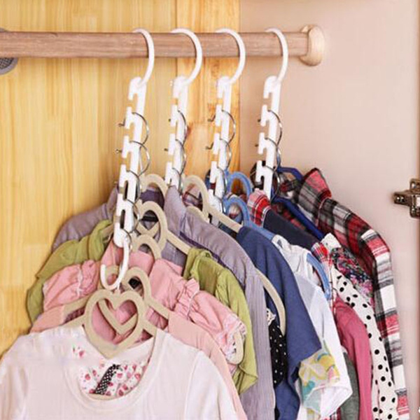 Picture of Space Saver Wonder Magic Clothes Hanger Rack Clothing Hook Organizer Set