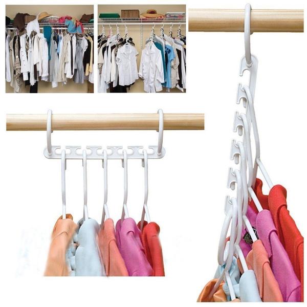 Picture of Space Saver Wonder Magic Clothes Hangers Closet Organizer Hooks Racks Useful