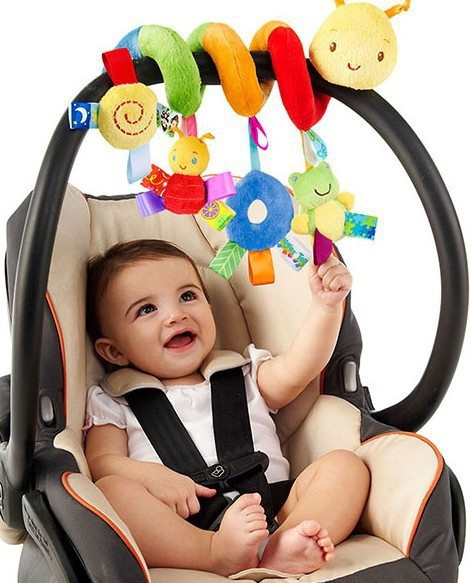 New Hanging Decoration Baby Toys Baby Cot Spiral Activity Cot Car Seat Pram Xmas Gift Plush Baby Toy Boy