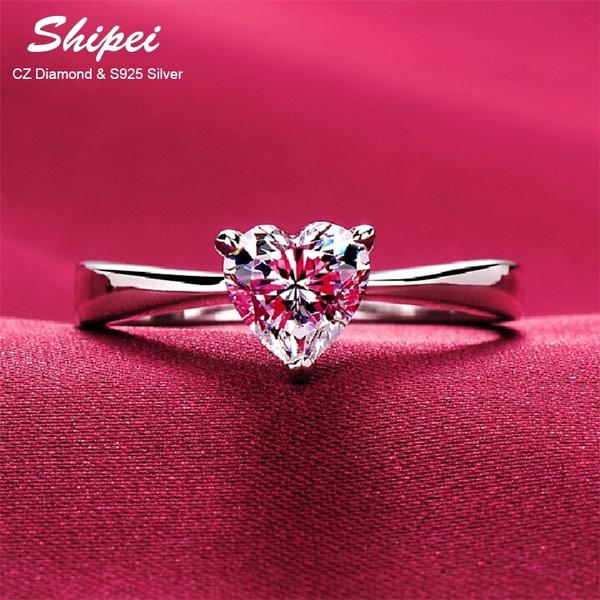 Sterling, Heart, heartshapedring, Jewelry