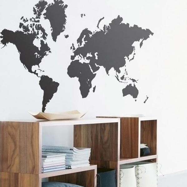 Wish fancy world map removable vinyl wall sticker wallpaper home wish fancy world map removable vinyl wall sticker wallpaper home office art decor decal gumiabroncs Choice Image