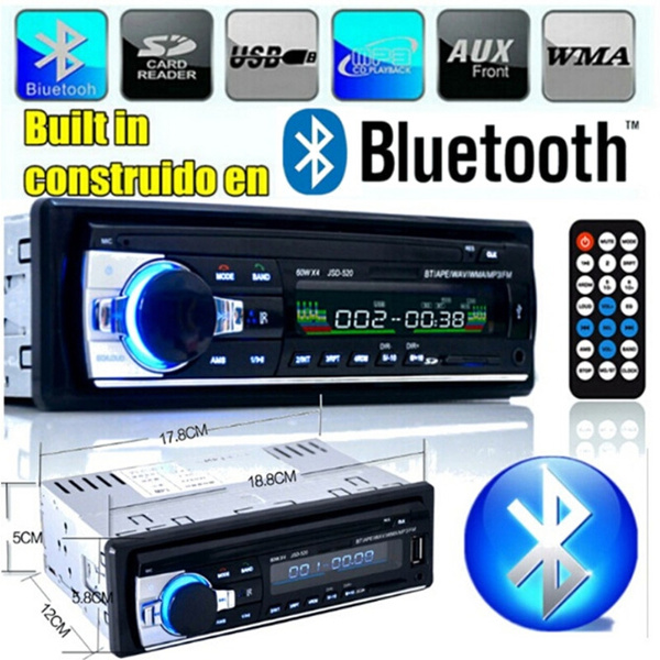 Picture of Bluetooth Handsfree Talking Car Radio Support Usb/sd Mmc Port 12v Car Stereo Fm Radio Mp3 Audio Player 1 Din In-dash Color Black
