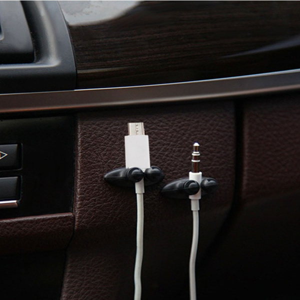 8 X Car Charger Line Clasp Clamp Headphone/USB Cable Car Clip