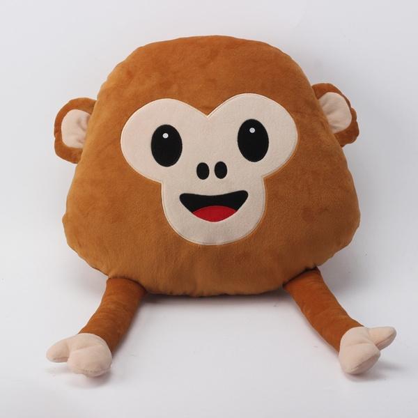 2016 New Emoji Pillow For Whats App Soft Hand Movable Monkey Neck Rest  Pillow & Cushion Stuffed & Plush Monkey Toys Dolls Emoji Monkey Emoticon