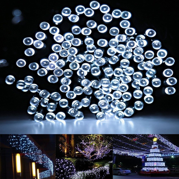 Solar Christmas Decorations.Decorative Solar Christmas Lights White 200 Led 72ft 8 Modes Fairy String Light For Outdoor Lawn Indoor Decor Home Patio Outside Garden Wedding