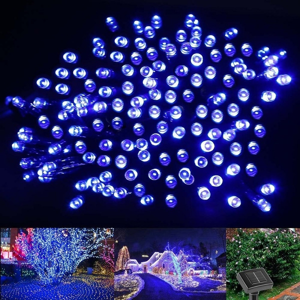 Solar Powered Christmas Lights 100 200 Led 40 72ft Waterproof Fairy String Light For Outdoor Garden Lawn Patio Xmas Tree Wedding Holiday