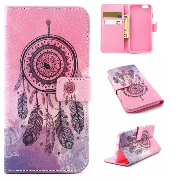 Picture of Flip Leather Wallet Cards Stand Dreamcatcher Foundation Pattern Case Cover For Iphone 5g 5c 6/6s 6plus/6s Plus/samsung Galaxy S6 S6 Edge/s6 Edge Plus /Note 5 /Tribute 2 Leon C40 /Motorola Moto G3