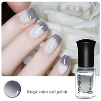 cute 6ml color changing thermal nail polish peel off polish gray to white. Black Bedroom Furniture Sets. Home Design Ideas