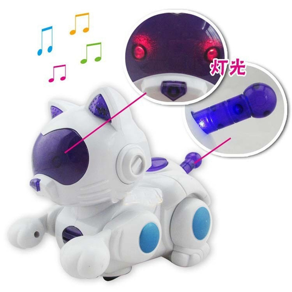 Electronic Pets Robot Cat Battery Operated Toy Music Singing Lights Up  Electronic Walking Pet Cat Brinquedos for Children Kids 4
