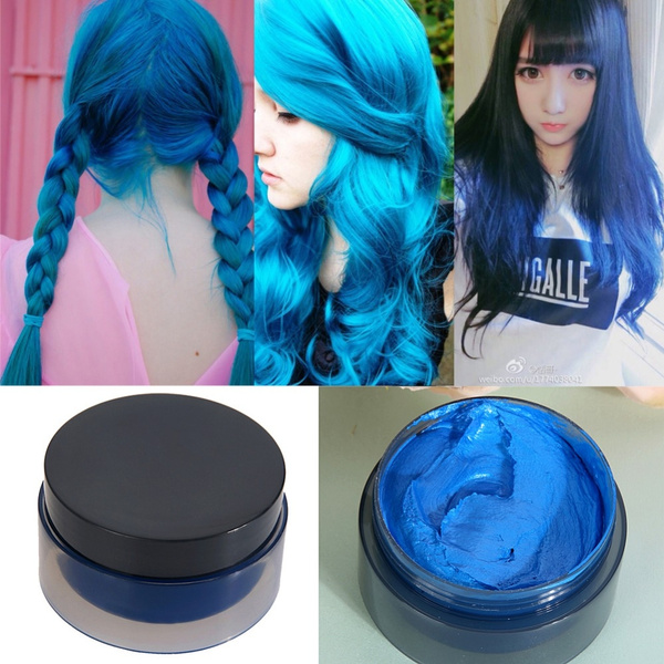 100ml Temporary Hair Dye Cream Hair Color Wax Mud Hair Fashion Modeling  Hair Coloring Products 5 Colors