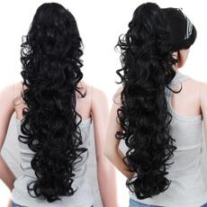 ponytailextension, hair, blackhairextension, Elegant
