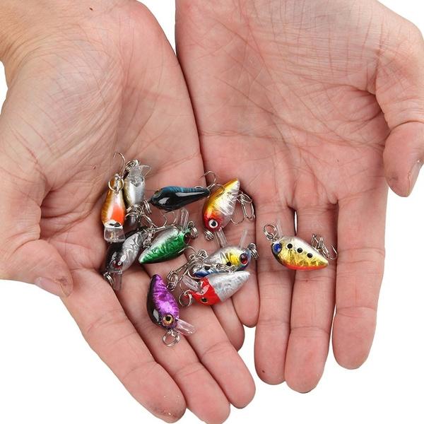 wish | 10pcs 3cm fishing lures hard plastic sinking crankbait, Fly Fishing Bait