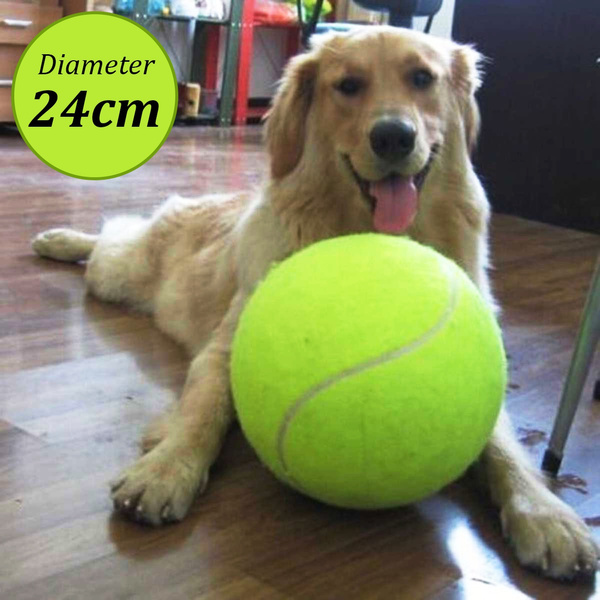 Rubber kelly Big Giant Pet Dog Puppy Mega Jumbo Tennis Ball Thrower Chucker Launcher Play Toy Signature Diameter 24cm